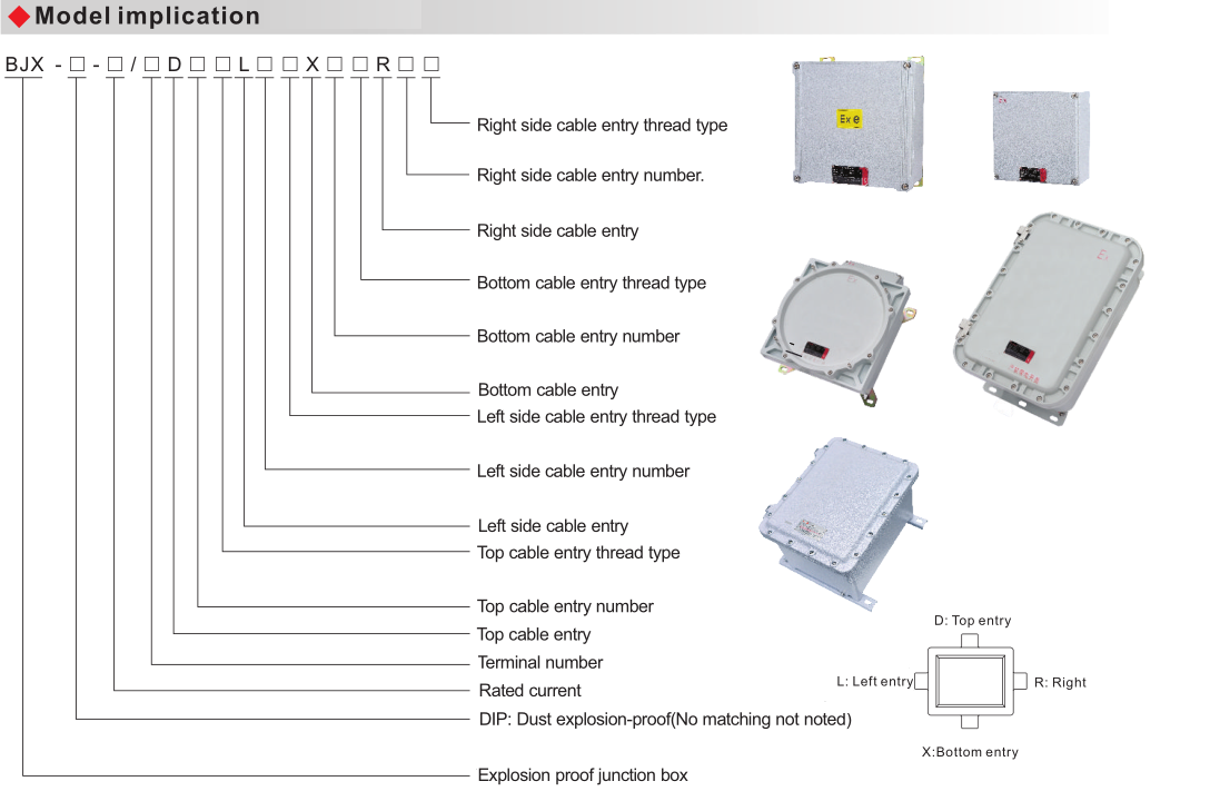 BJX Explosion Proof Junction Box