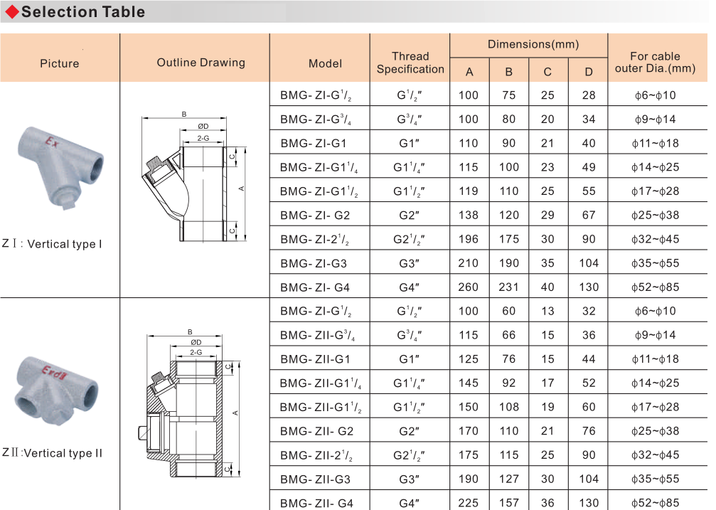 BMG Explosion Proof Isolated Sealing Box