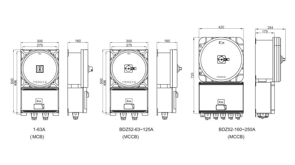 BDZ52 Explosion Proof Circuit Breaker