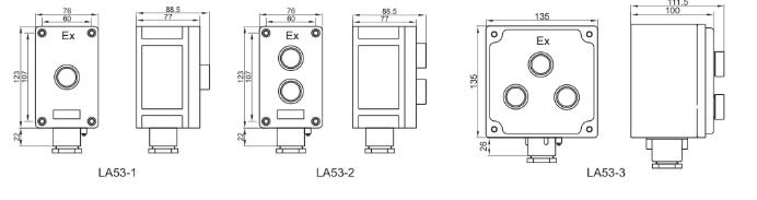 LA53 Explosion Proof Control Button